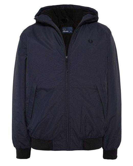 Fred Perry - White Padded Hooded Brentham Jacket for Men - Lyst