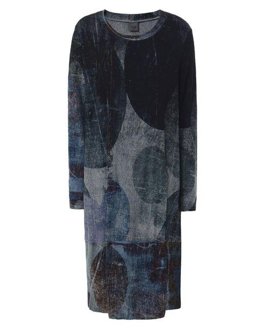 Crea Concept - Gray Abstract Print Jersey Midi Dress - Lyst