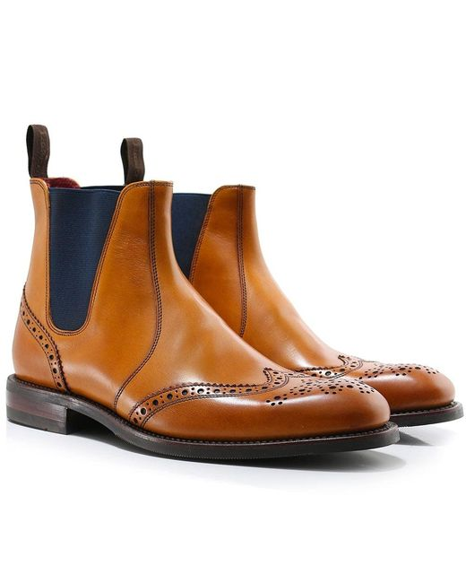 Loake - Brown Leather Hoskins Chelsea Boots for Men - Lyst