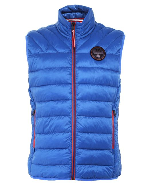 Napapijri - Blue Padded Aerons Gilet for Men - Lyst