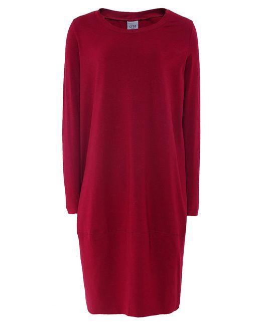 Crea Concept - Red Jersey Midi Dress - Lyst