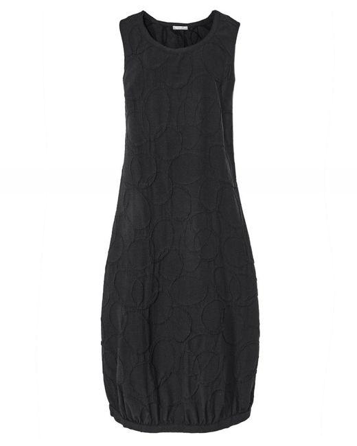 Crea Concept Black Textured Circle Dress