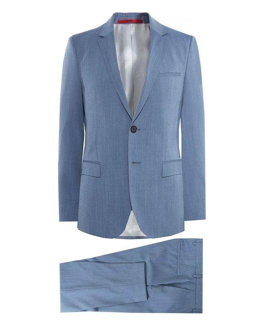 HUGO - Blue Extra Slim Fit Virgin Wool Arti/hesten 182 Suit for Men - Lyst
