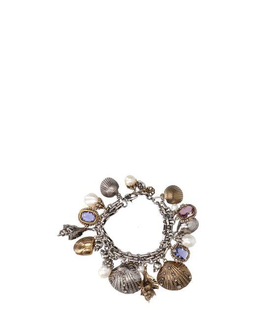 Alexander McQueen - Metallic Shells Bracelet - Lyst