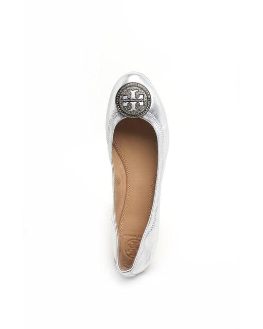 63fffba3966 Lyst - Tory Burch Liana Ballet Flat in Metallic - Save 72%