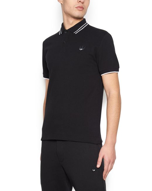 81bfbc4dc Lyst - Mcq Alexander Mcqueen 'swallow' Polo in Black for Men