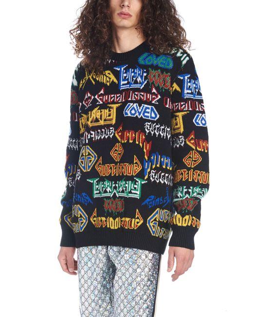 Gucci - Multicolor ' Metal' Sweater for Men - Lyst