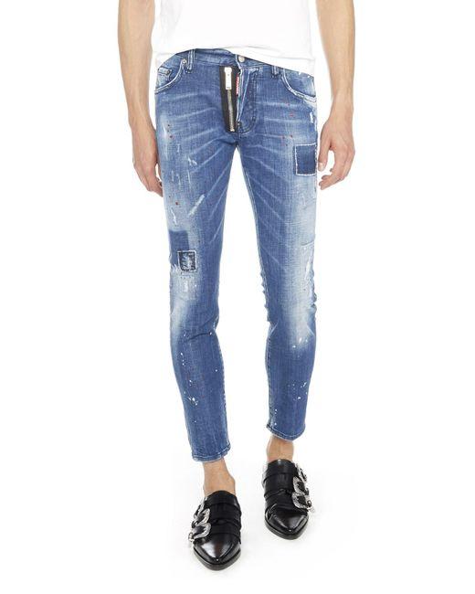DSquared² - Blue 'skater Jean' Jeans for Men - Lyst