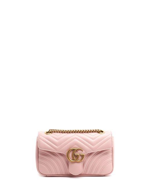 c6fa4a15896 Gucci - Pink  marmont 2.0  Shoulder Bag - Lyst ...