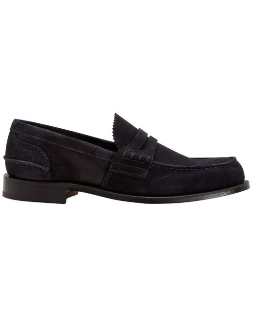 Church's - Black Suede Loafer for Men - Lyst