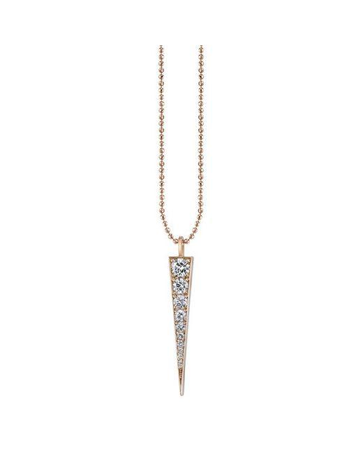 Anita Ko | Metallic Diamond Dagger Necklace | Lyst
