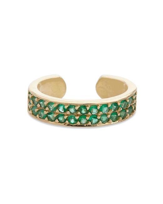 Anita Ko   Metallic Emerald Ear Cuff   Lyst
