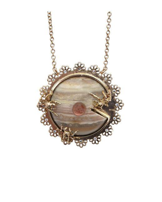 Daniela Villegas - Metallic Compartir Necklace - Lyst
