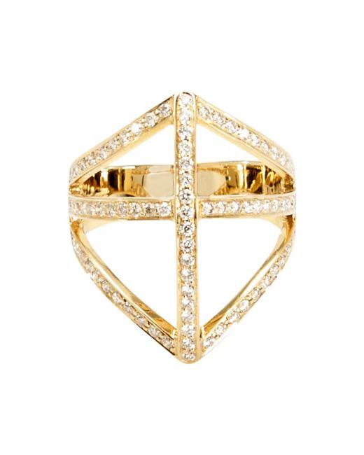 Campbell - Yellow Diamond Shield Ring - Lyst
