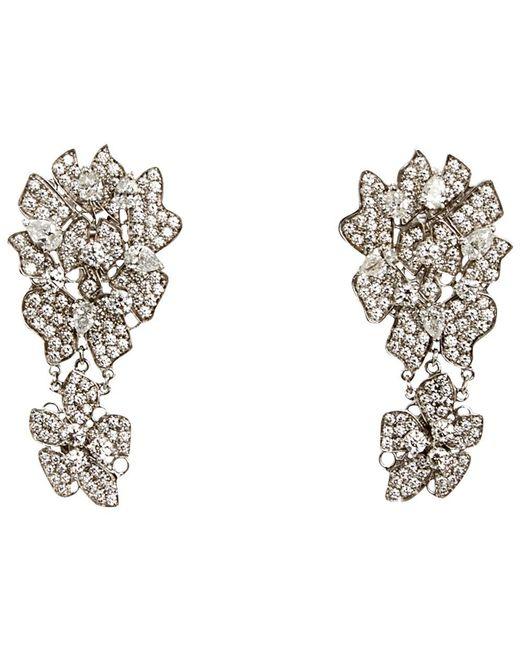 Wilfredo Rosado | White Lace Drop Earrings | Lyst