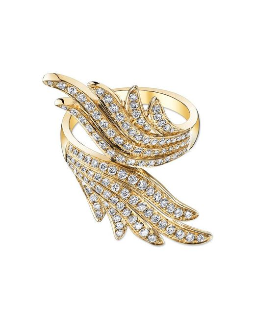 Anita Ko | Metallic Diamond Wing Wrap Ring | Lyst
