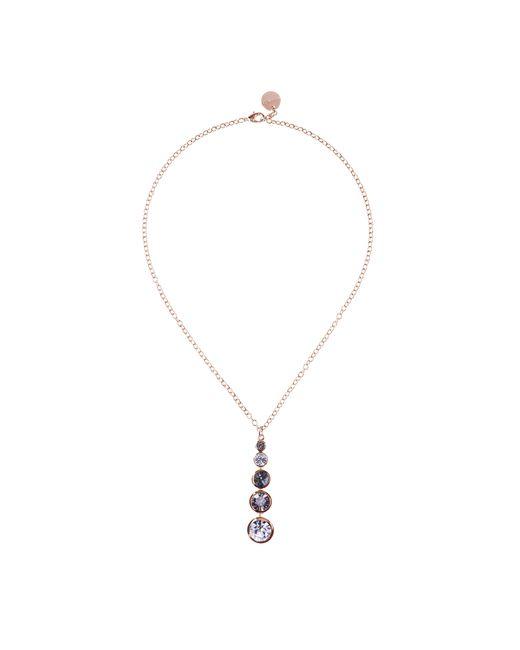 Karen Millen | Metallic Swarovski Teardrop Necklace - Rose Gold Colour | Lyst