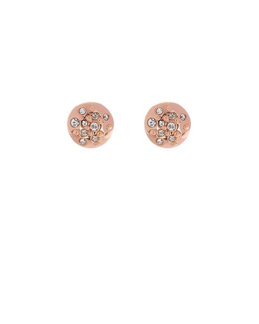 Karen Millen - Metallic Crystal Sprinkle Stud Earrings - Rose Gold Colour - Lyst