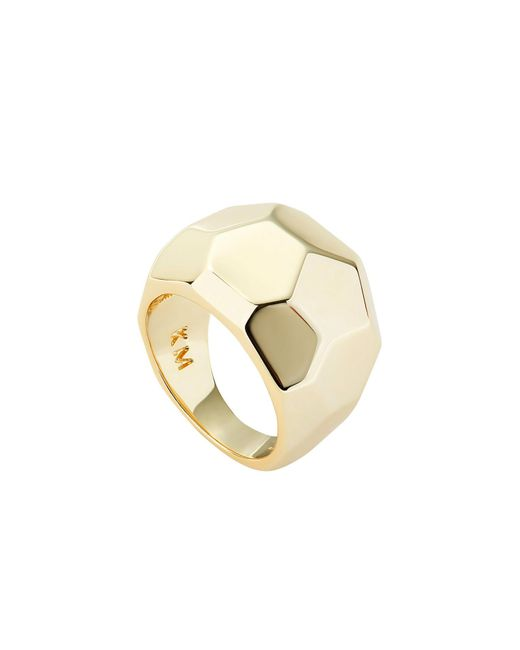 Karen Millen - Metallic Geometric Chunky Ring - Lyst