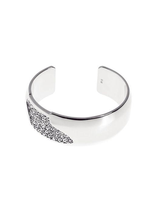 Karen Millen | Metallic Sparkling Wide Cuff - Silver Colour | Lyst
