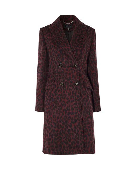 Karen Millen - Leopard Print Tailored Coat - Lyst