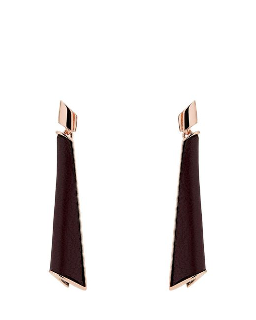 Karen Millen - Multicolor Folded Pleat Drop Earrings - Lyst