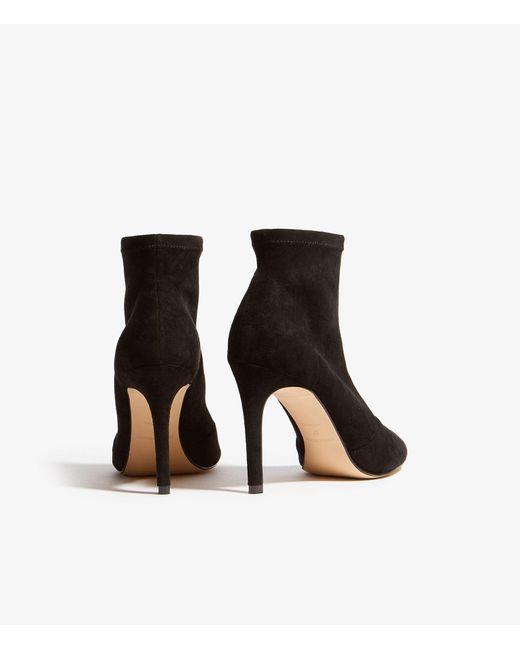 4862ba1a6980 ... Karen Millen - Black Peep-toe Boots - Lyst ...