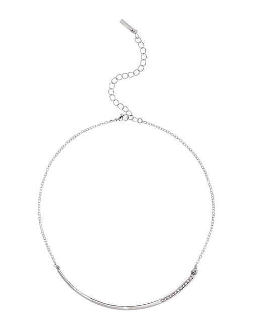 Karen Millen - Metallic Crystal Shard Choker - Silver Colour - Lyst