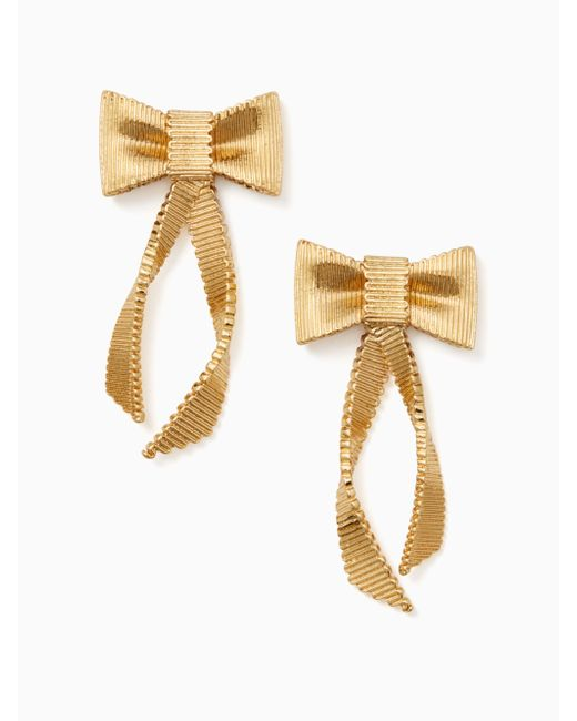 Kate Spade   Metallic All Wrapped Up Statement Earrings   Lyst