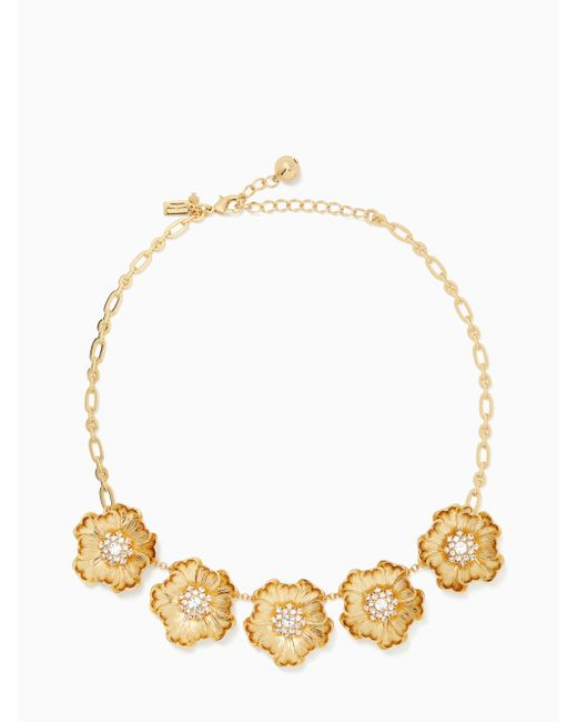 Kate Spade - Metallic Precious Poppies Necklace - Lyst