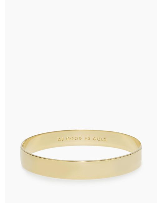 Kate Spade - Metallic Solid Gold Idiom Bangle - Lyst