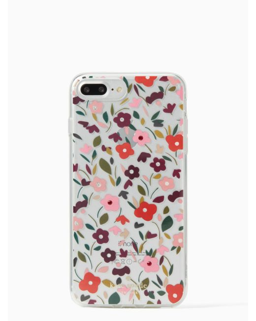 Kate Spade - Multicolor Jeweled Boho Floral Clear Iphone 7 Plus Case - Lyst