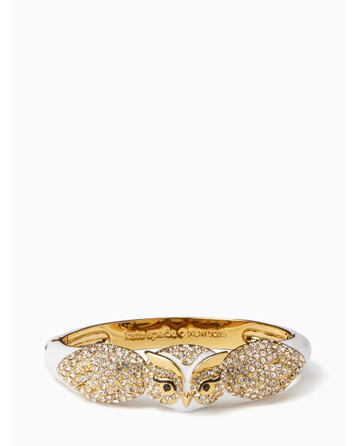 Kate Spade | Multicolor Star Bright Owl Bangle | Lyst