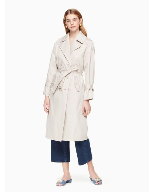 Kate Spade - Natural Relaxed Twill Trench Coat - Lyst