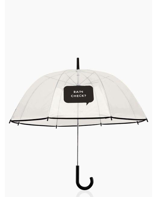 Kate Spade | White Rain Check? Umbrella | Lyst