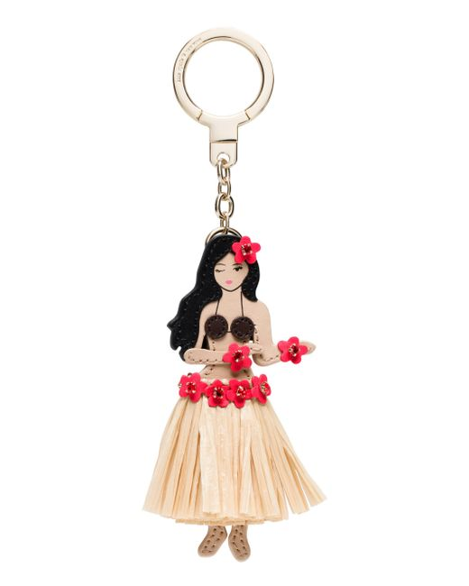 Kate Spade - Multicolor Leather Hula Girl Keychain - Lyst