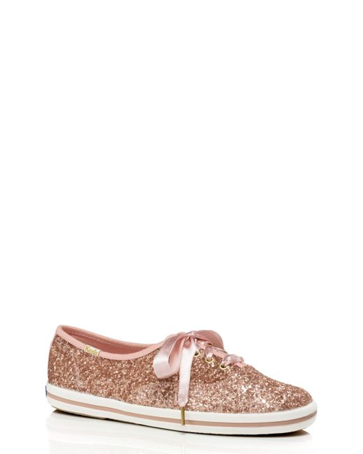 Kate Spade - Pink Keds X Glitter Sneakers - Lyst