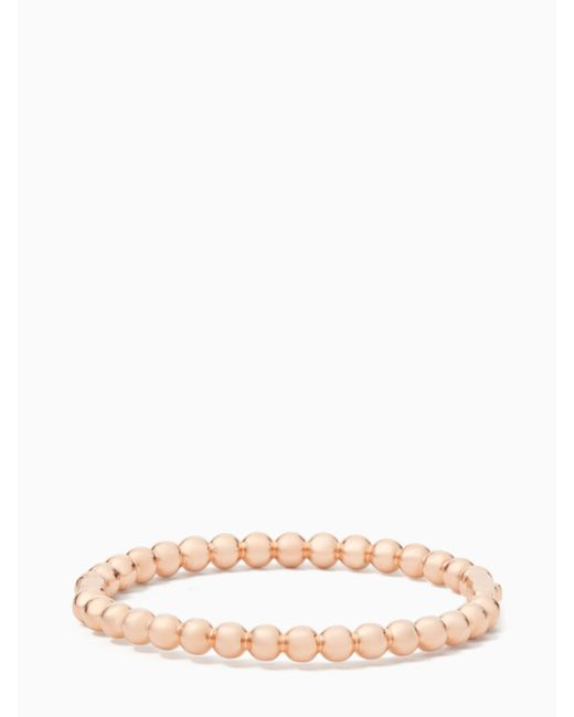 Kate Spade - Multicolor Golden Girl Ball Hinged Bangle - Lyst