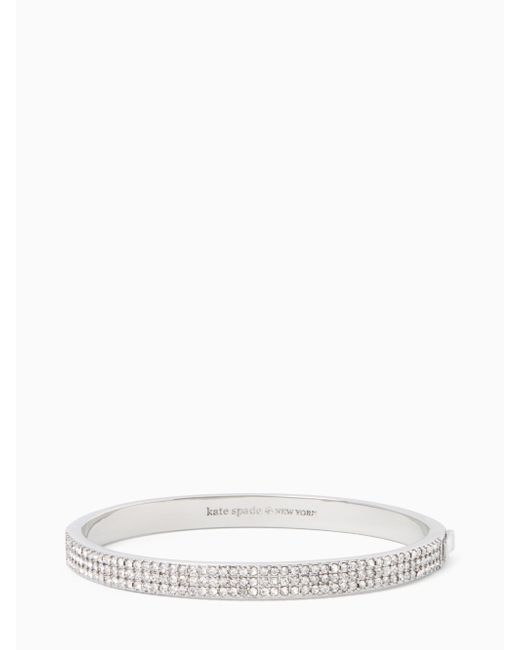 Kate Spade | Metallic Heavy Metals Pave Row Bangle | Lyst