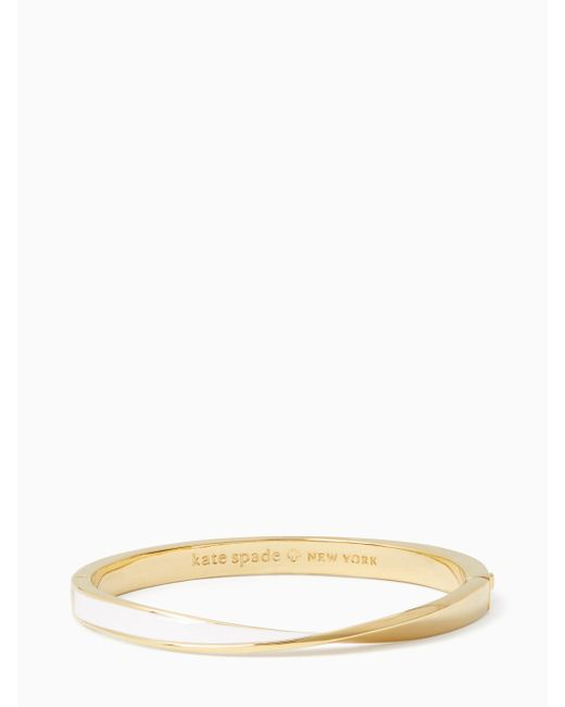 Kate Spade | White Do The Twist Hinged Bangle | Lyst