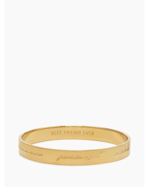 Kate Spade - Metallic Bridesmaid Idiom Bangle - Lyst