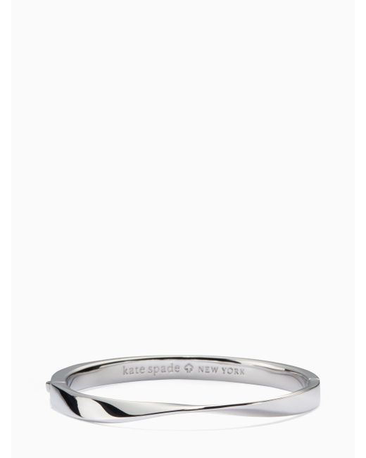 Kate Spade - Metallic Do The Twist Hinged Bangle - Lyst