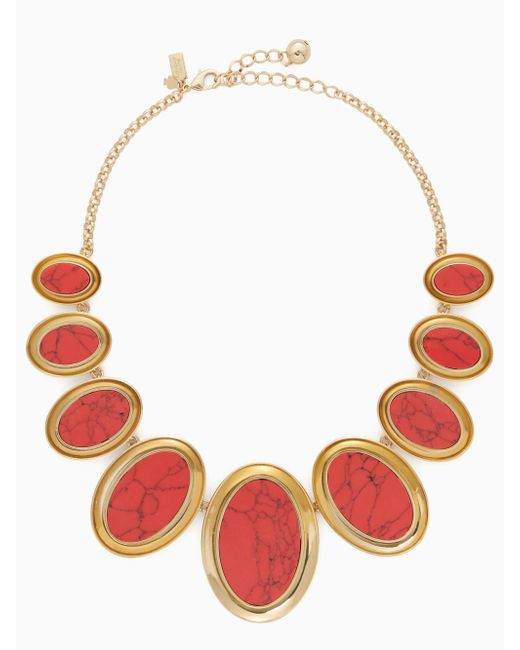 Kate Spade - Red Bright And Bold Statement Necklace - Lyst