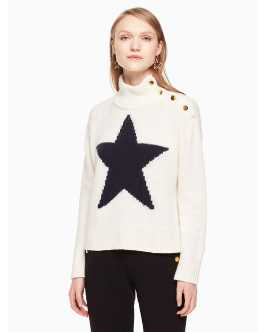 Kate Spade - Multicolor Star Turtleneck Sweater - Lyst