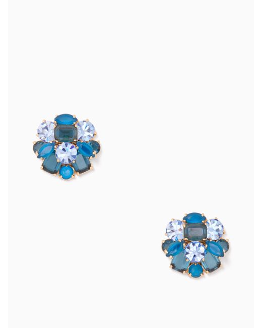 Kate Spade | Blue Shine On Cluster Studs | Lyst