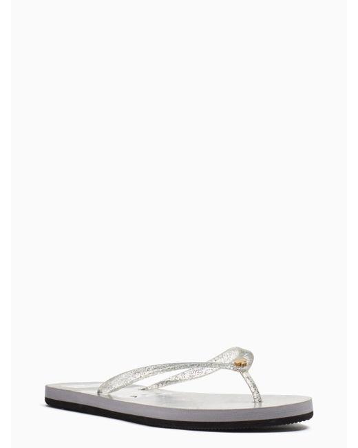 Kate Spade | Metallic Nassau Sandals | Lyst