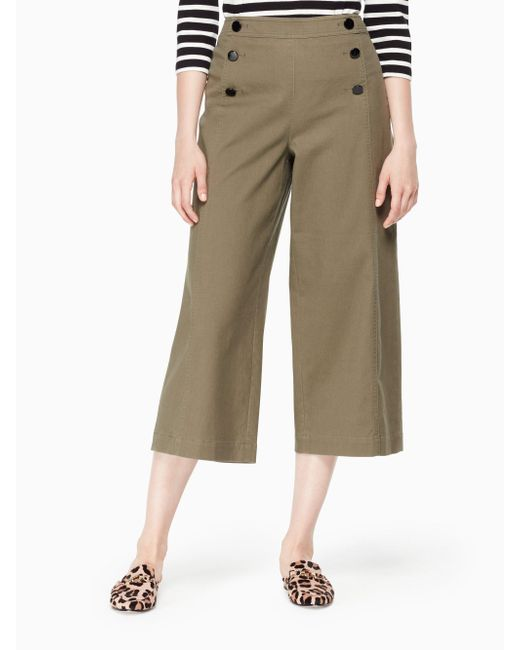 Kate Spade - Green Cropped Military Pant - Lyst