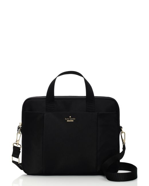 kate spade new york | Black Classic Nylon Laptop Commuter Bag | Lyst