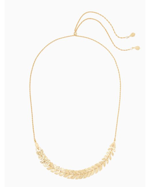 Kate Spade - White A New Leaf Slider Necklace - Lyst