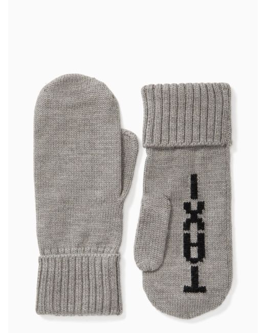 Kate Spade - Gray Taxi Mittens - Lyst